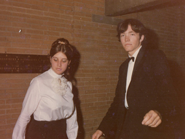 Glynis Richards and Rob - St Catz Ball - 1968