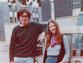 Glynis and Rob Donovan - Oxford - 1970