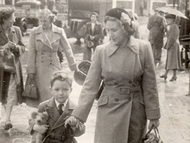 Rob - Peter Ted and Mum - Lewisham - London - 1952
